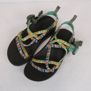 Girls Chaco Strappy Sandals Size 1 Multicolor